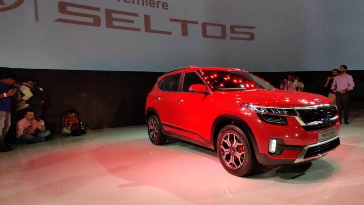 Kia Seltos Unveiled red side quarter