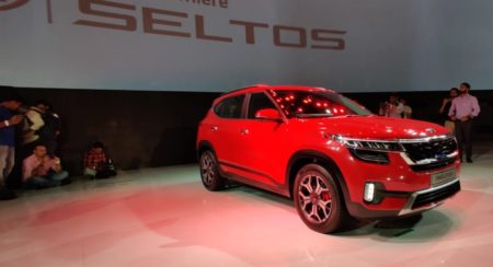 Kia Seltos Unveiled red side quarter