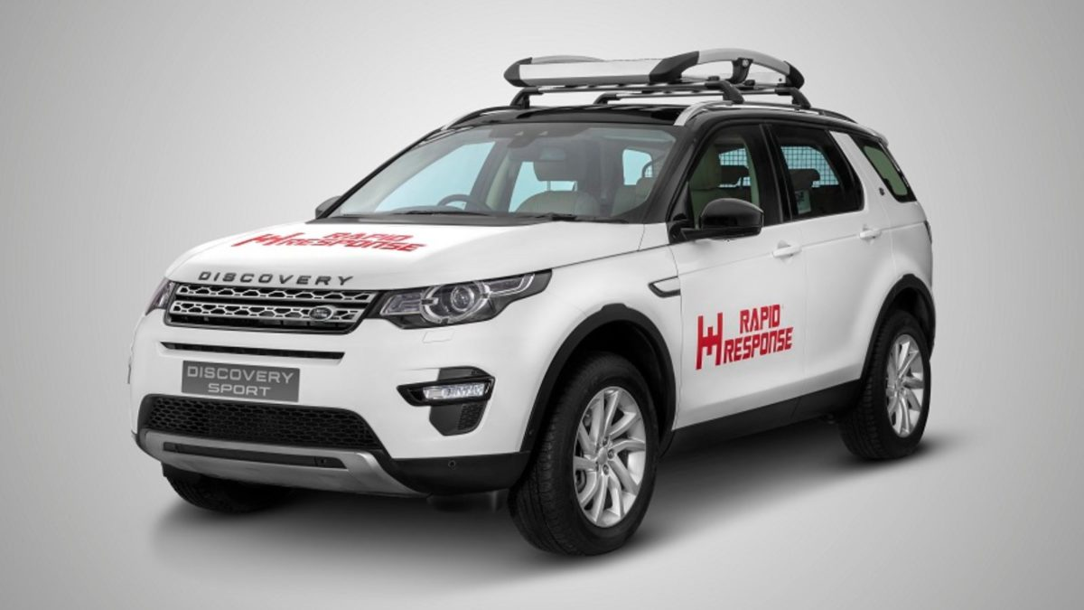 Land Rover Rapid Response Discovery Sport front quarter
