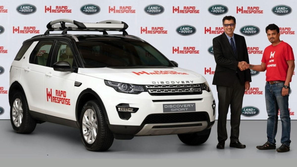Land Rover Rapid Response Discovery Sport handover