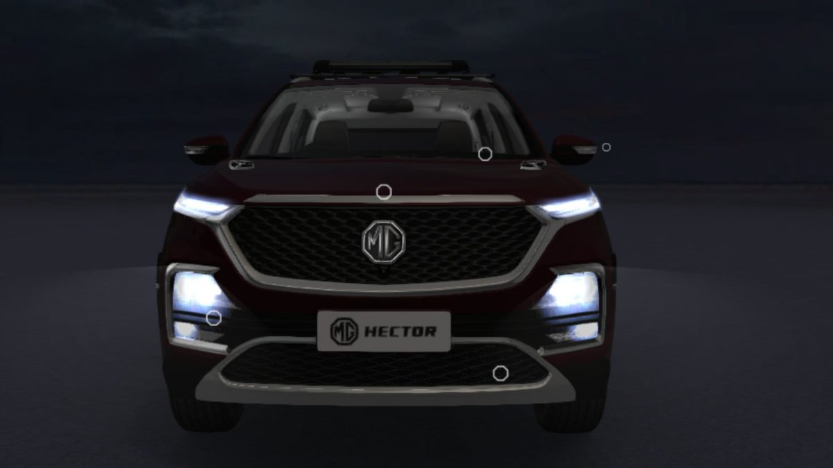 MG Hector Accessorised front