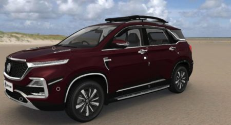 MG Hector Accessorised front quarter