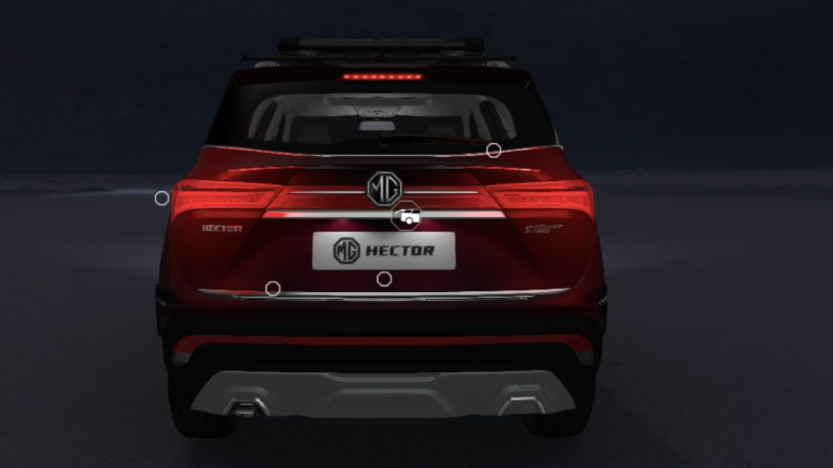 MG Hector Accessorised rear