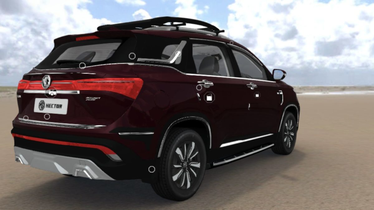 MG Hector Accessorised rear quarter