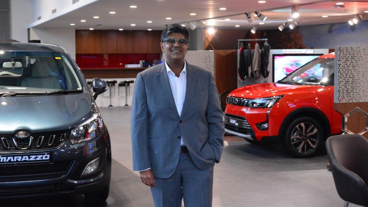 Mahindra World of SUVs Mr Nakra in the showroom