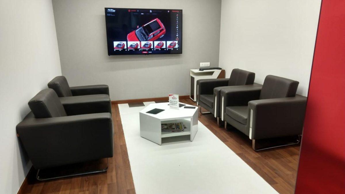 Mahindra World of SUVs customer lounge