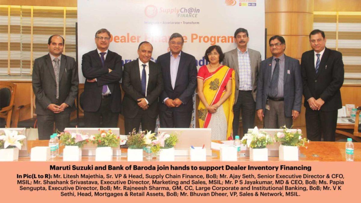 Maruti Suzuki and Bank of Baroda sign MoU for financing options