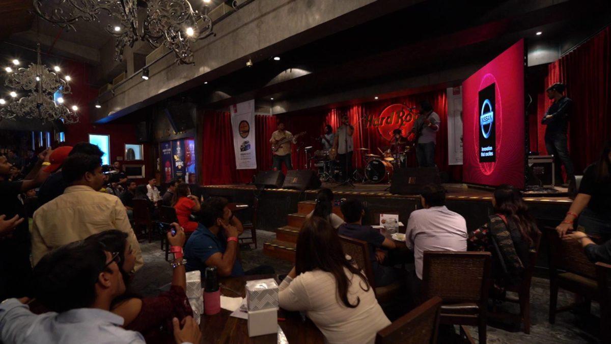 Nissan Kicks event stage at hard rock