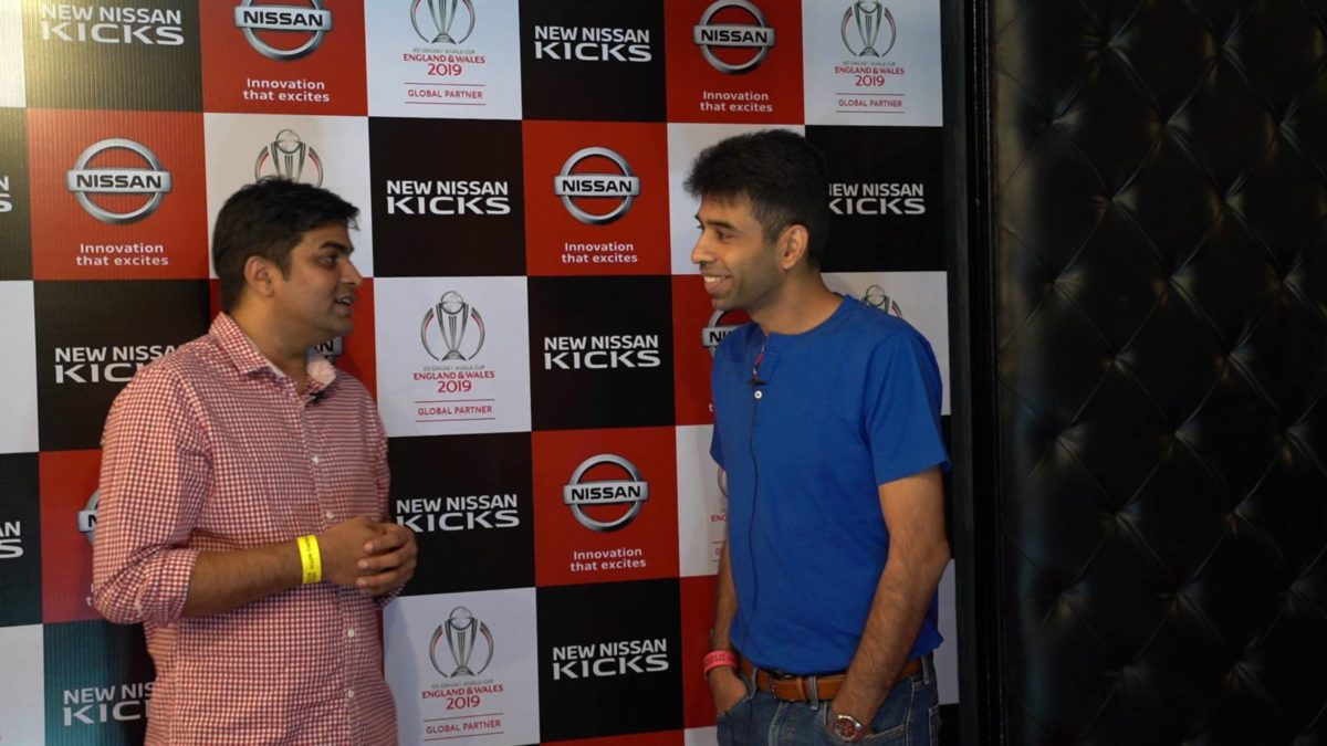 Nissan Kicks event talking with customers