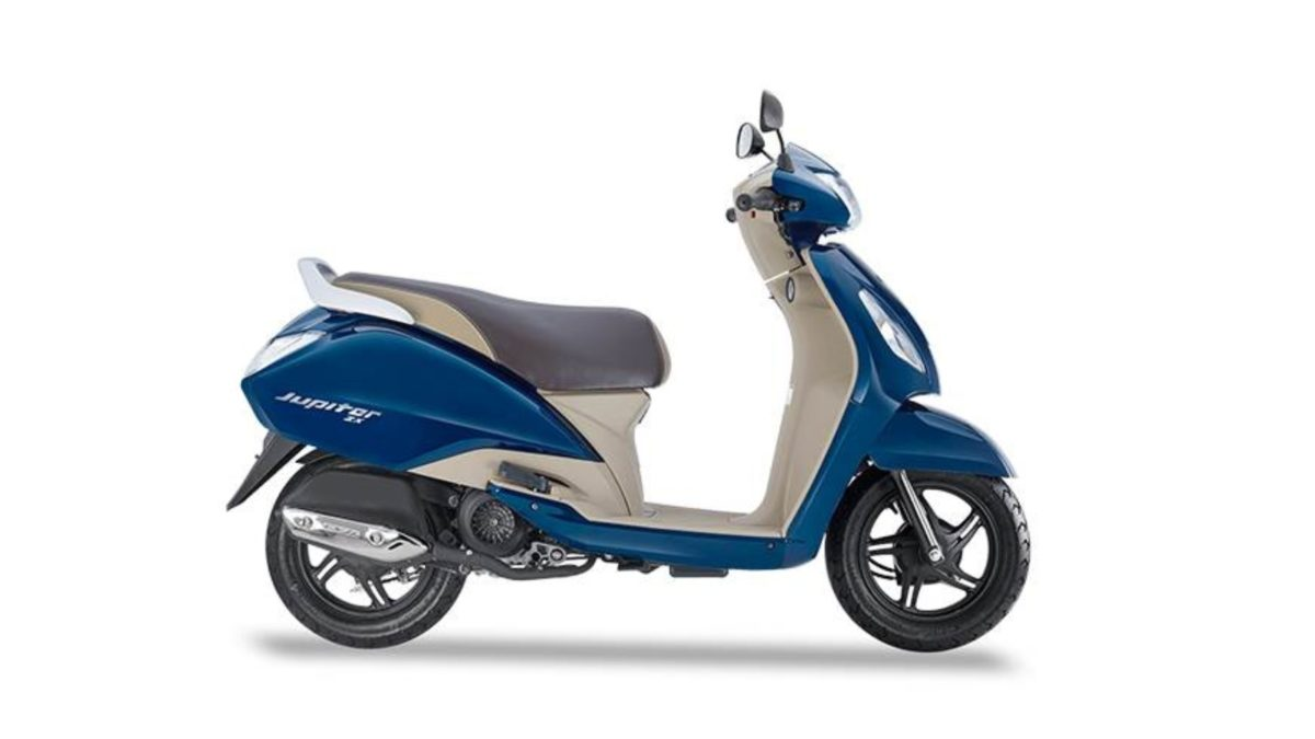 TVS Jupiter ZX blue side