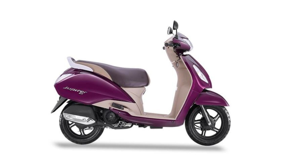 TVS Jupiter ZX wine red side