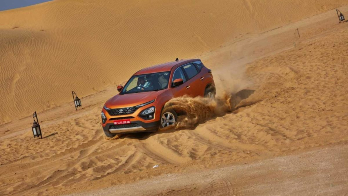 Tata Harrier off roading sand