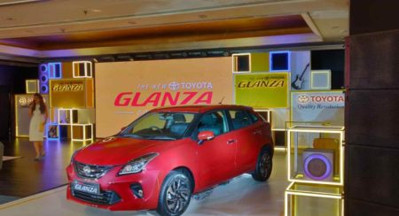 Toyota Glanza Launch front quarter