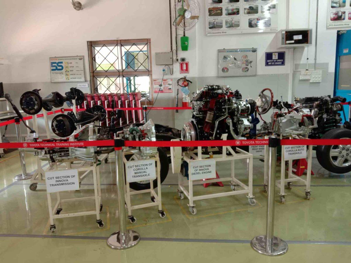 Toyota Kirloskar plant visit tranmission parts