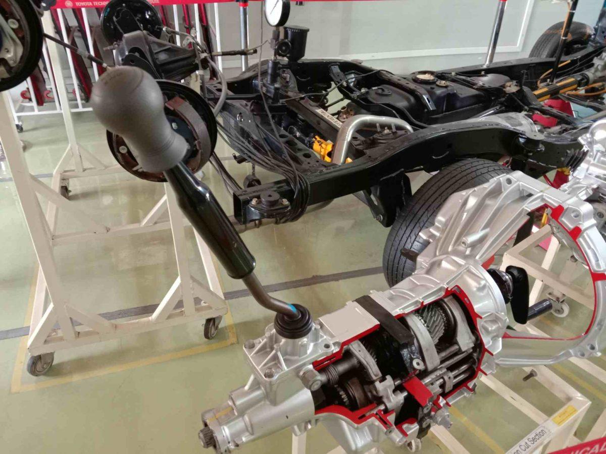 Toyota Kirloskar plant visit transmission half cut