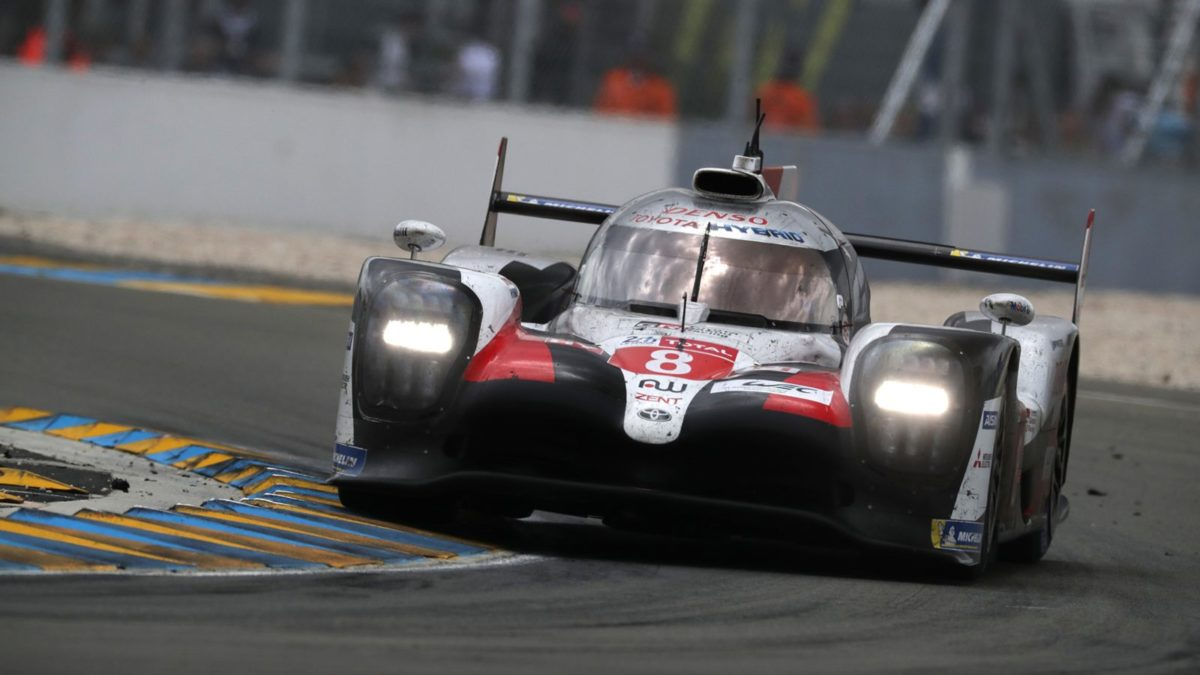 Toyota TS050 on track
