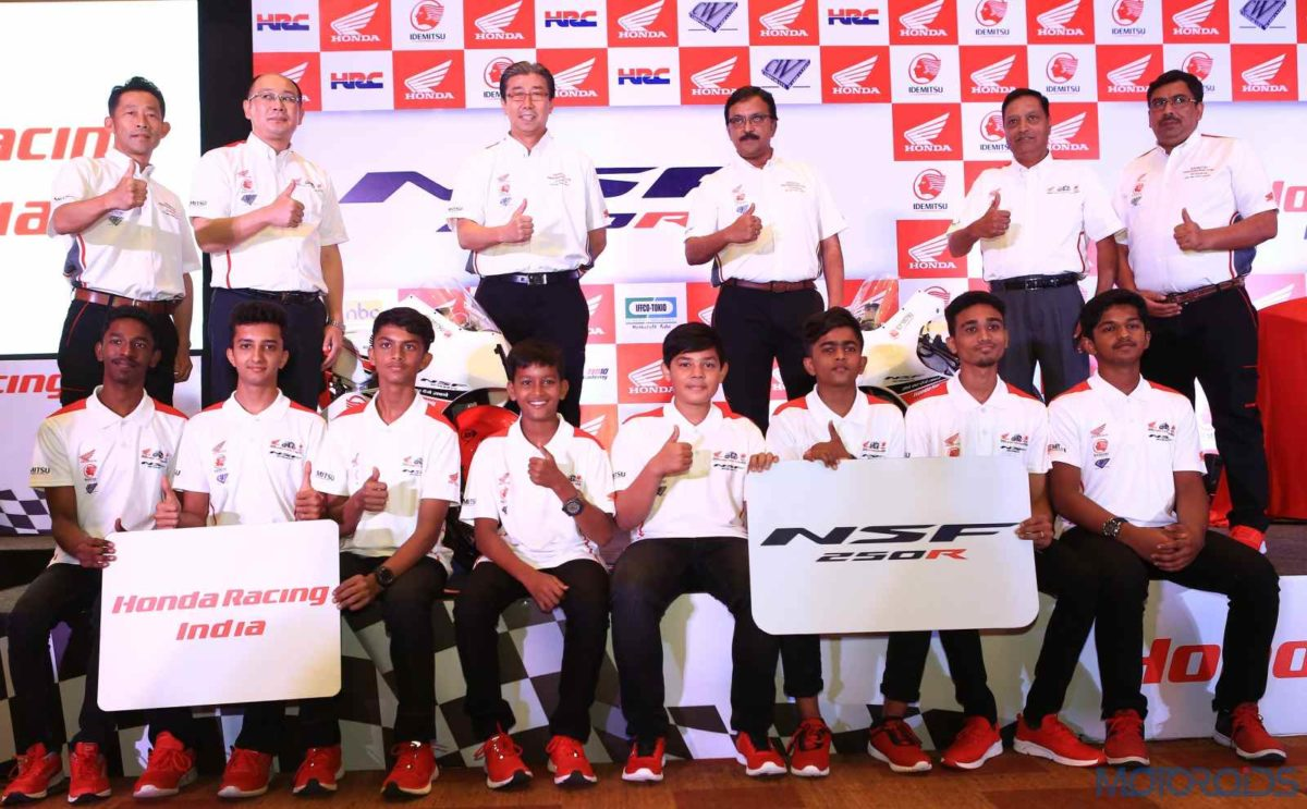 Unveiling the NSF250R, Honda 2Wheelers India announces NSF250R cup for fast tracking the career of young racers.