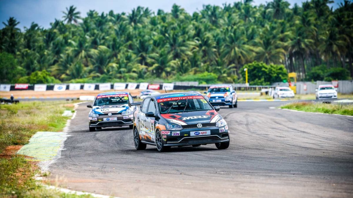Volkswagen Ameo Cup 2019 first round race 1