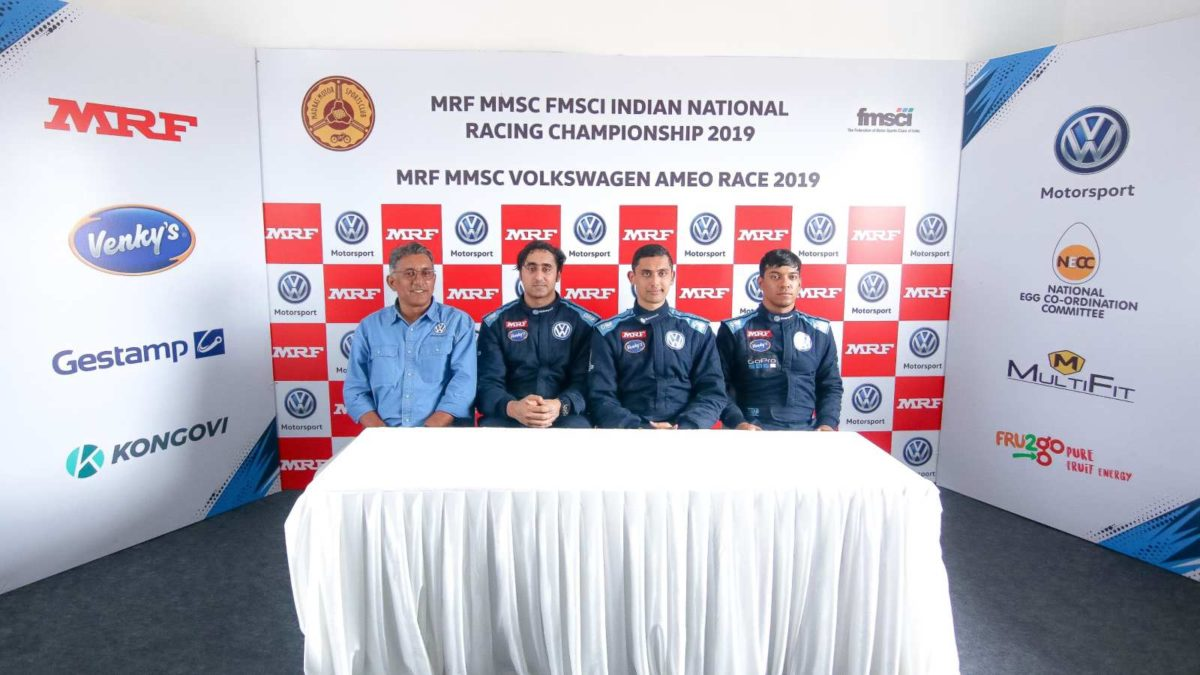 Volkswagen Ameo Cup 2019 first round race 1 winners