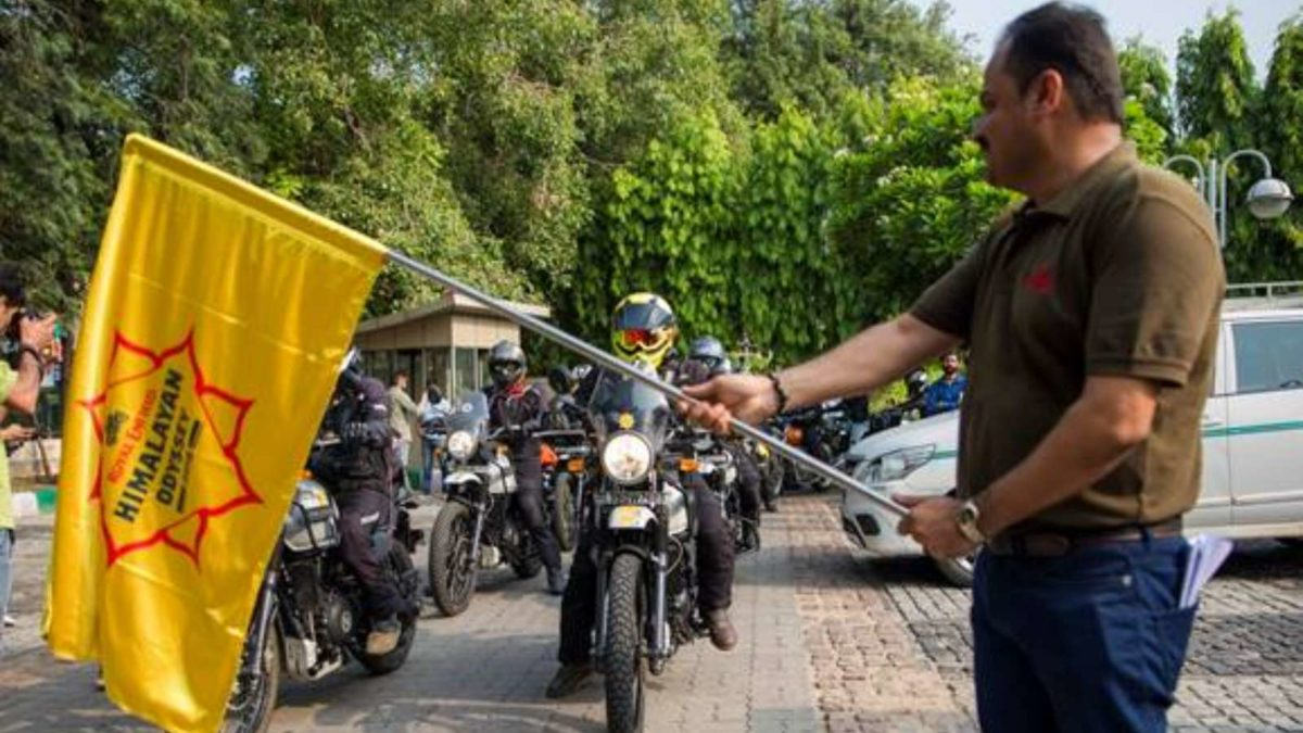 2019 Royal Enfield Himalayan Odyssey flag off