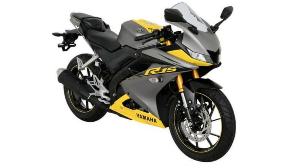 2019 Yamaha R15 Grey and Yellow