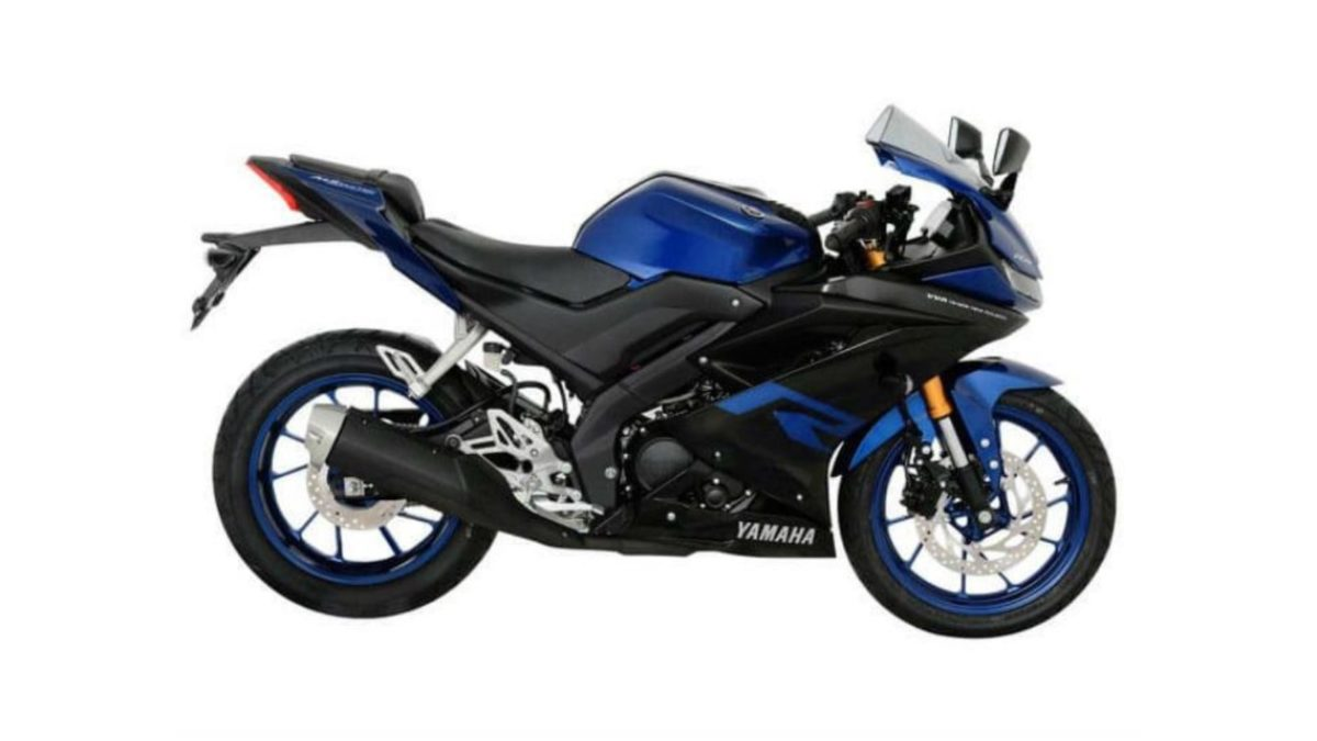 2019 Yamaha R15 black and blue