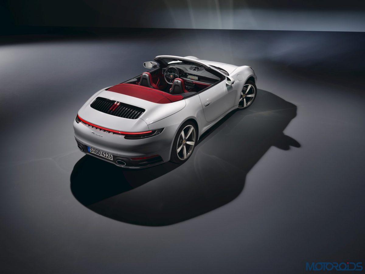 2020 Porsche 911 Carrera Cabriolet Roof Down