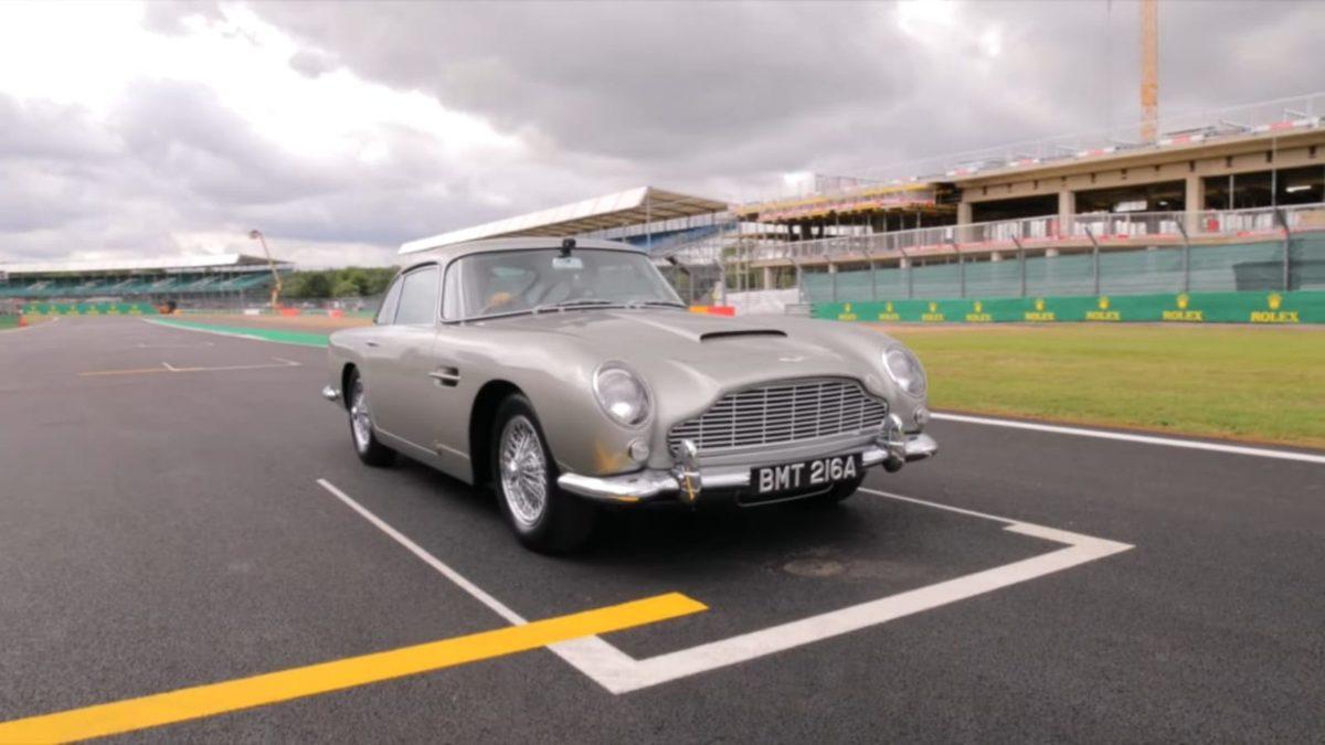 Aston Martin DB5 on Silverstone