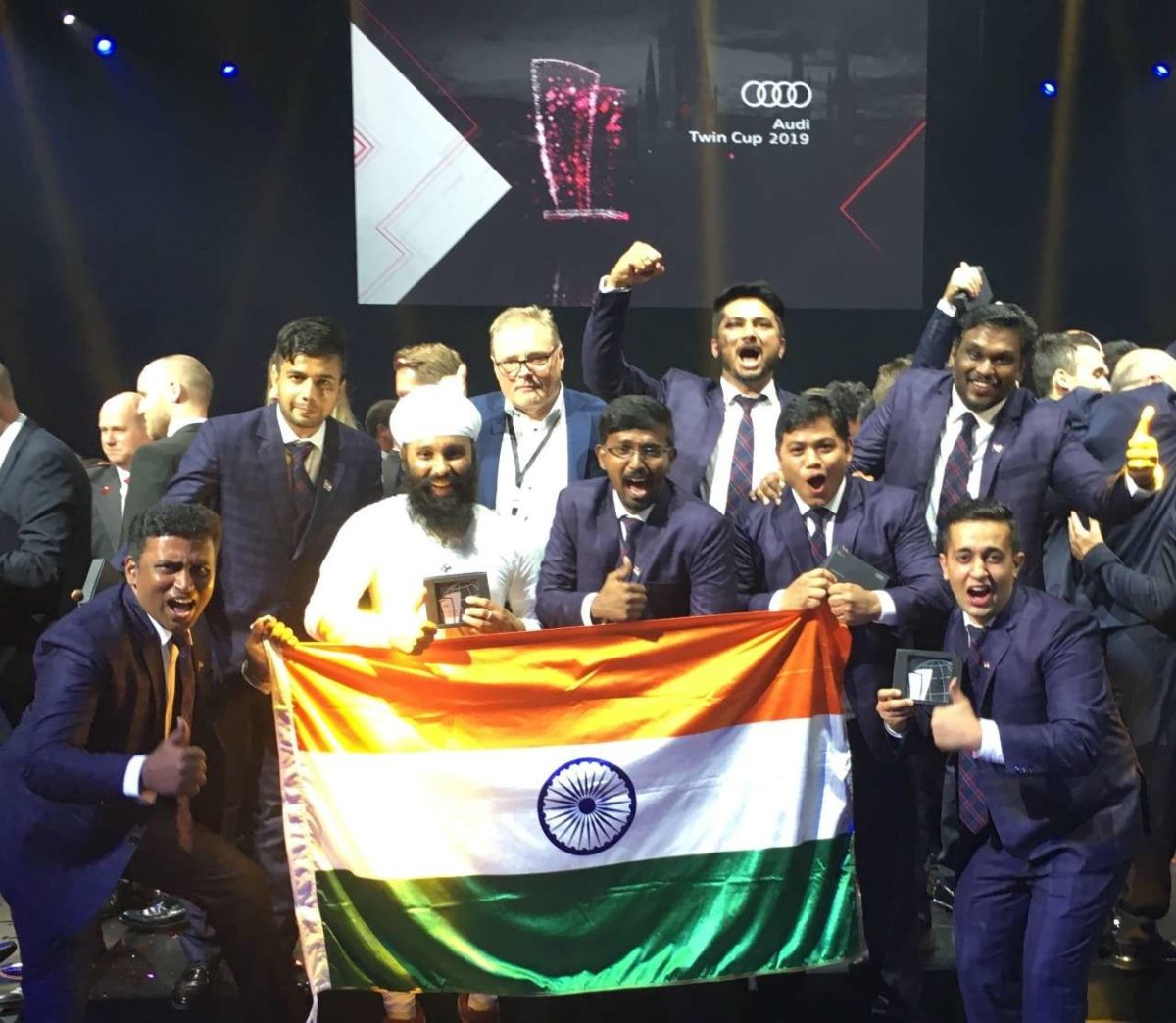 Audi Twin cup Indian team comes second