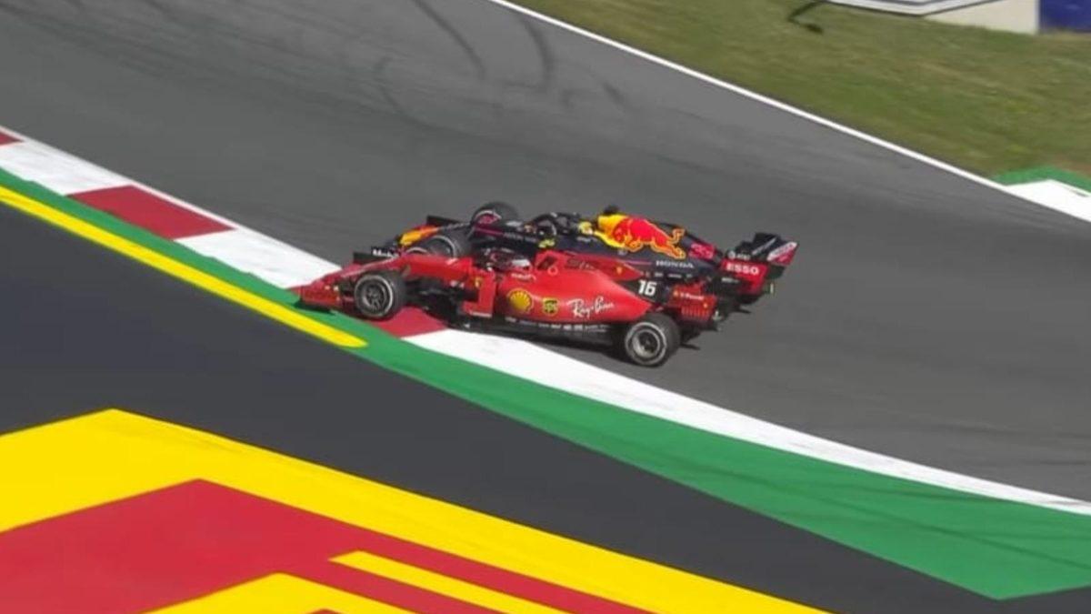 Austrian GP 2019 Max and Charles overtake