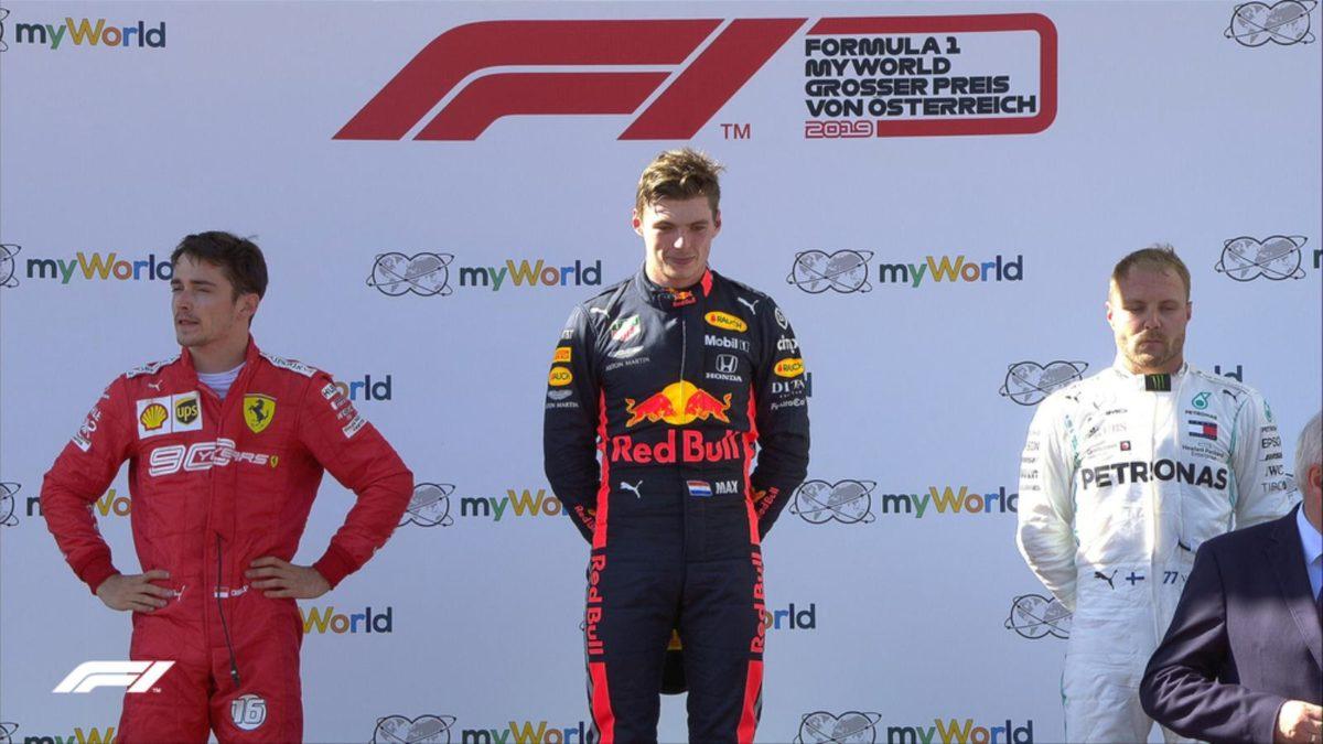 Austrian GP 2019 podium