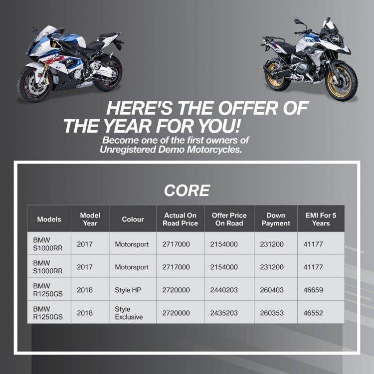 BMW Demo bikes offer 2