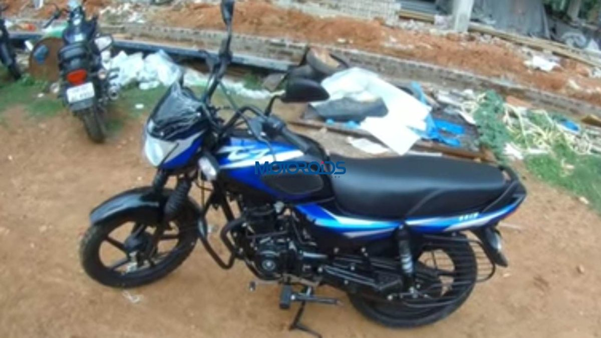 Bajaj CT110 left side on dirt