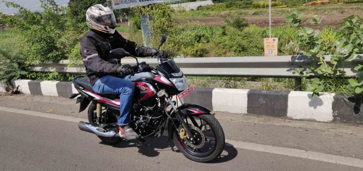 Bajaj Platina 110 H Gear Review front