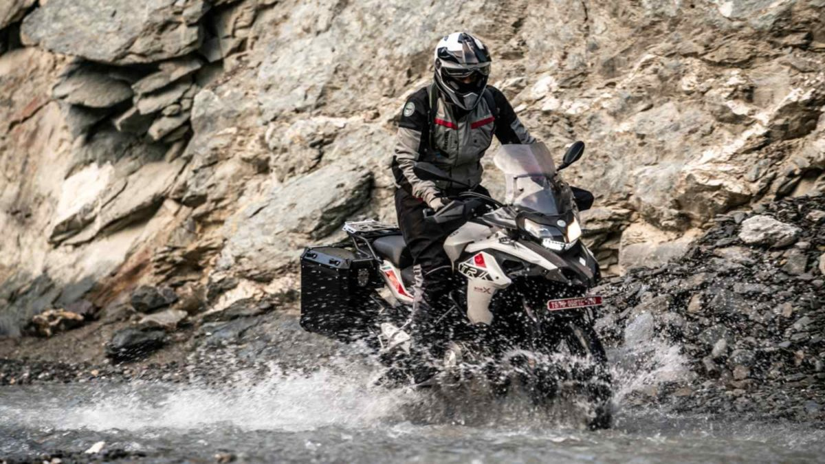 Benelli TRK 502X to Ladakh river crossing
