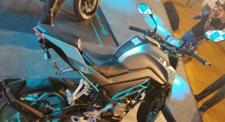 CF Moto 300 NK launch rear quarter