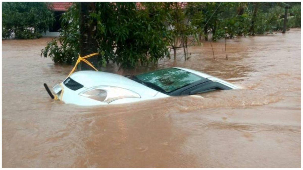 Flooded maruti swift