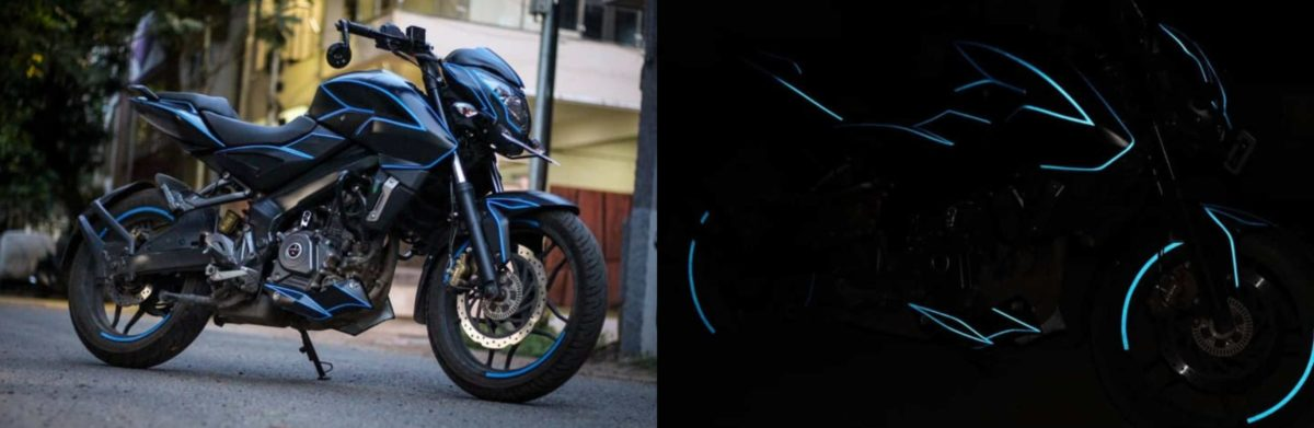 Glow in the dark wrap Bajaj Pulsar 200 NS