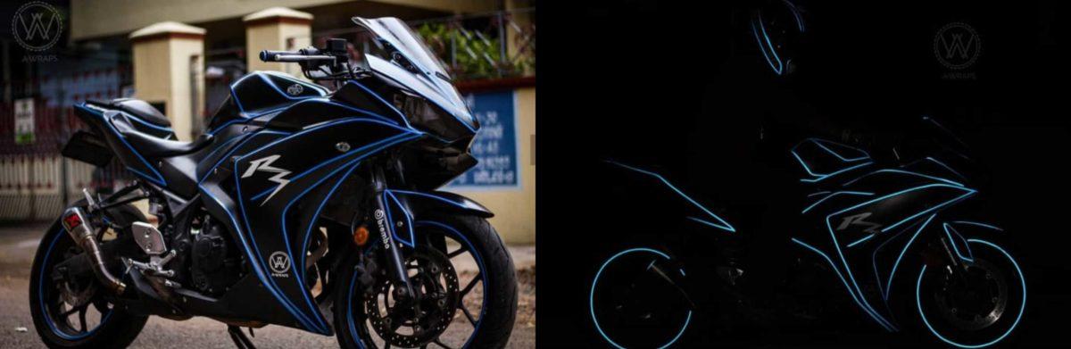 Glow in the dark wrap Yamaha R15