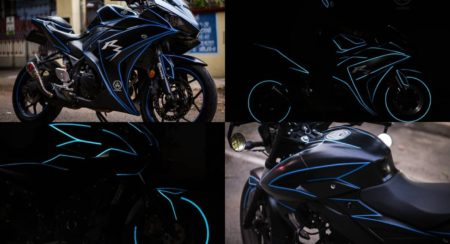 Enhance The Night Appearance Of Your Bike With This Glow In The Dark Wrap