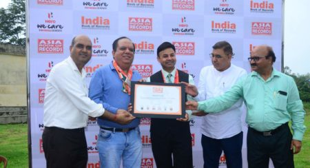 Hero MotoCorp Plantation drive record certificate