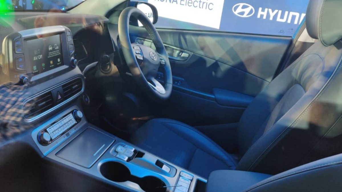 Hyundai Kona Electric Launch interior