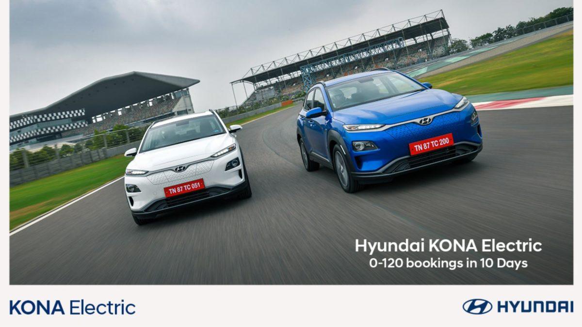 Hyundai Kona gets 120 bookings