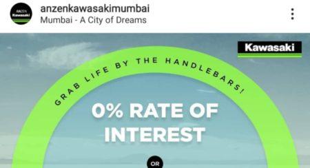 Kawasaki Mumbai Dealer offer featured