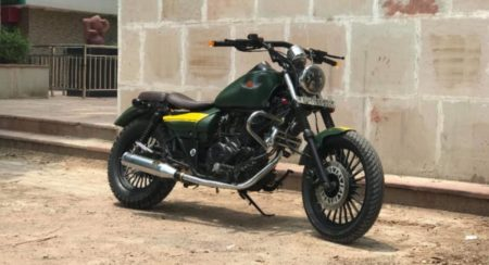 Modified Avenger 220 front quarter