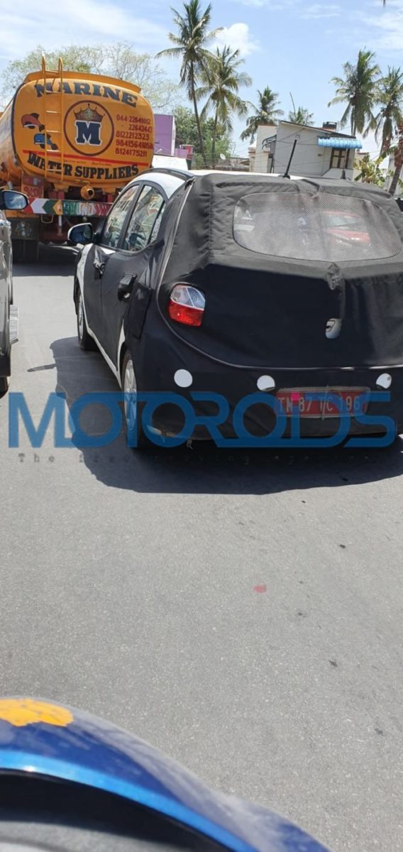 Next generation Hyundai Grand i10 Spied rear