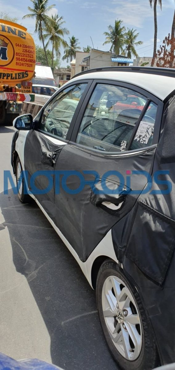 Next generation Hyundai Grand i10 Spied side