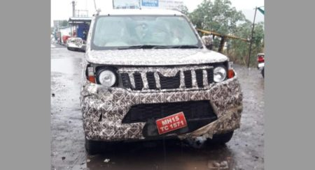 Next generation Mahindra TUV300 spy shot front
