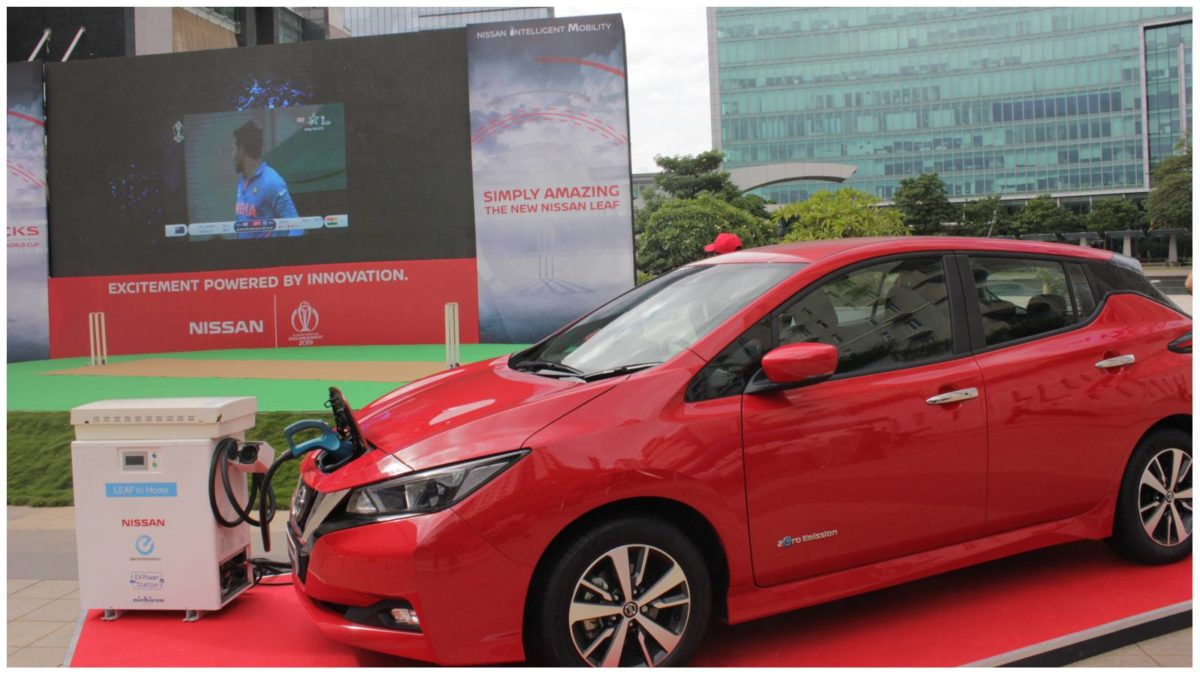 Nissan LEAF powers India NZ match screening in Bangalore