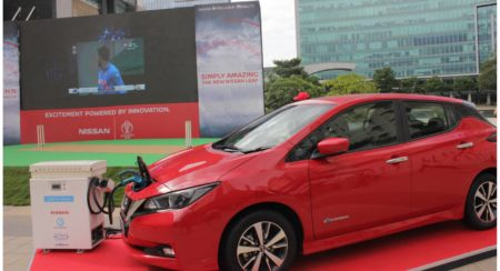 Nissan LEAF powers India-NZ match screening in Bangalore